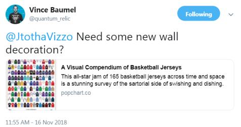 vince's tweet